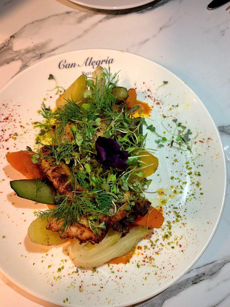 restaurant CAN ALEGRIA-poulpe-grillé. MadameCrobalo