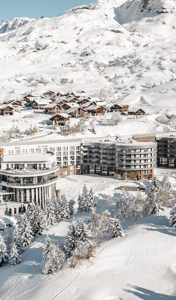 club med de l'alpe d'Huez vue drone ©DR