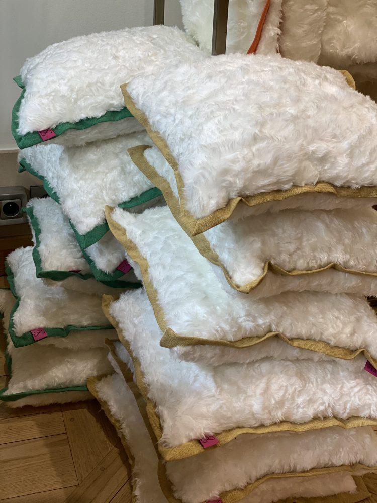 ligati/jenifer : coussins en lin et polyester FELICE (45,50€)