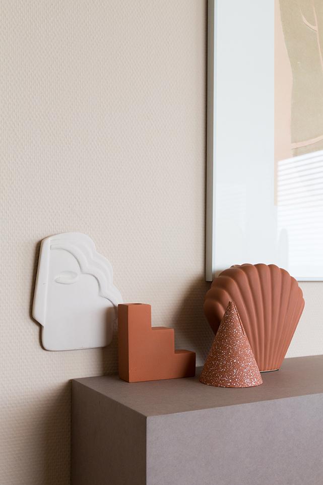 THE COOL REPUBLIC Vase terracota Shell - HKLIVING